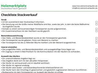 Vorschaubild Checkliste Stockverkauf